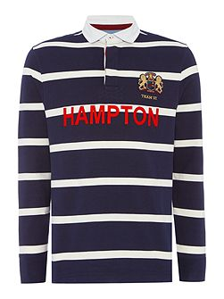 Hampton Stripe Long Sleeve Rugby Shirt