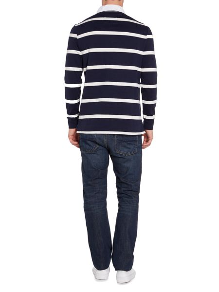 Howick Hampton Stripe Long Sleeve Rugby Shirt