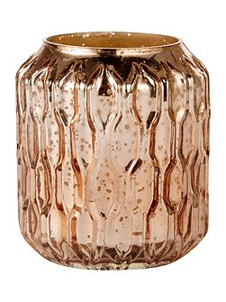 Honeycomb mercury candleholder rose gold
