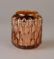 Linea Honeycomb mercury candleholder rose gold