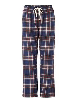 Grid check flannel pant