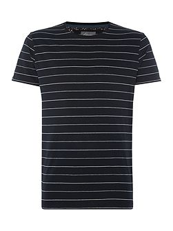 Bosier Engineered Stripe Crew Neck T-Shirt