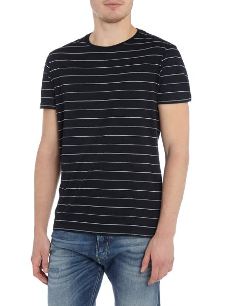 Linea Bosier Engineered Stripe Crew Neck T-Shirt