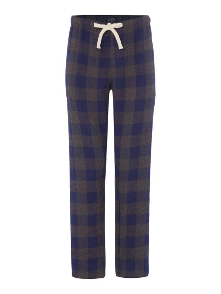 Howick Grey blue check flannel pant