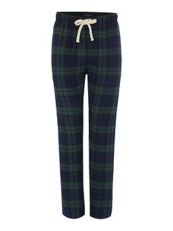 Black watch tartan flannel pant
