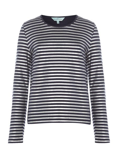 Little Dickins & Jones Girls Metallic Stripe T-shirt