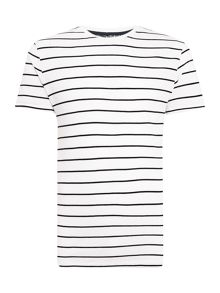 Linea Monier Pique Striped Crew Neck T-Shirt