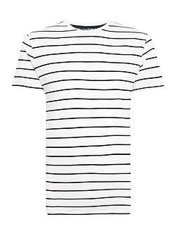 Monier Pique Striped Crew Neck T-Shirt