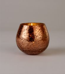 Linea Rose gold mercury candleholder, small