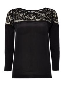 Marella Balance 3/4 sleeve lace woven top