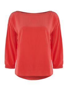 Marella Victor silk pleat back top