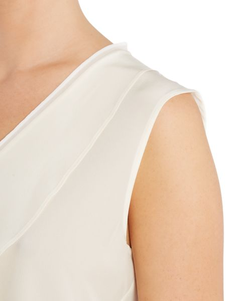 Marella Mogador sleeveless silk v neck