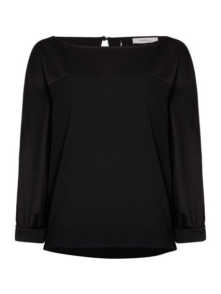 Marella Iorgo long sleeve silk top