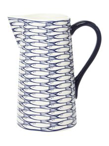 Jersey Pottery Sardine Run Straight Pitcher
