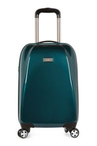 Antler Puck teal 4 wheel hard cabin suitcase
