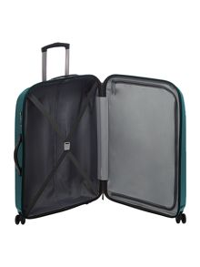 Antler Puck teal 4 wheel hard medium suitcase