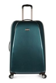 Antler Puck teal 4 wheel hard large suitcase