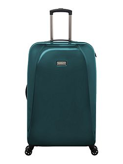 Puck teal 4 wheel hard large suitcase