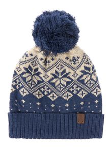 Howick Two tone fairisle beanie hat