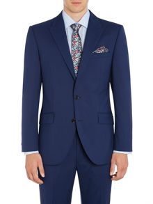 New & Lingwood Wenlock textured peak lapel suit jacket