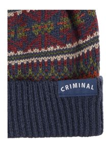 Criminal All Over Fairisle Hat