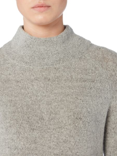 Gray & Willow Uli Funnel Neck Boucle Knit Jumper