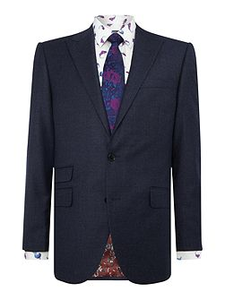 Tutberry peak lapel flannel suit jacket