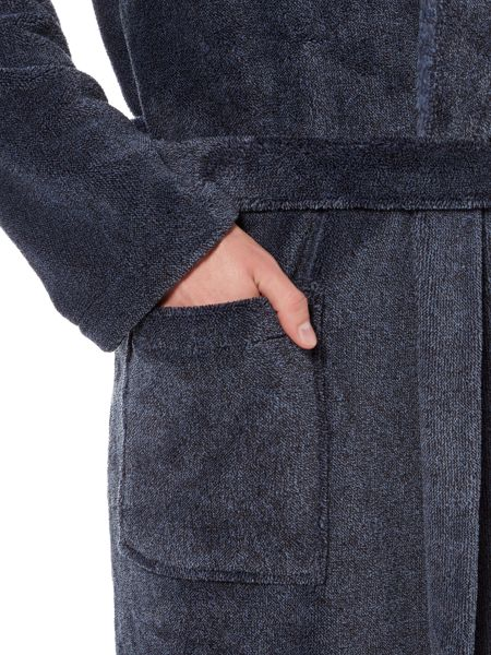 Howick Classic Navy Fleece Dressing Gown