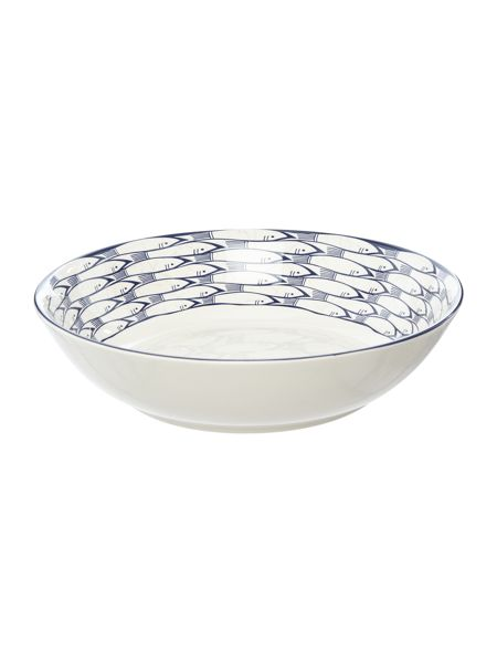 Jersey Pottery Sardine Run Salad Serving Bowl