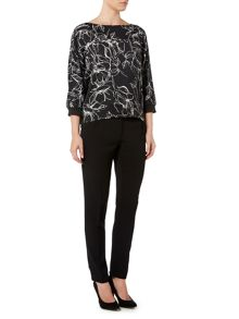 Marella Sospiro long sleeve floral print top