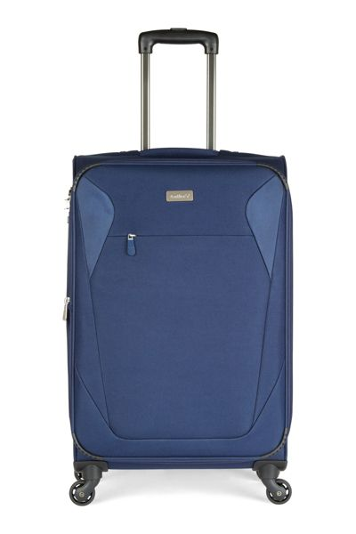 Antler Elba navy 4 wheel soft medium suitcase
