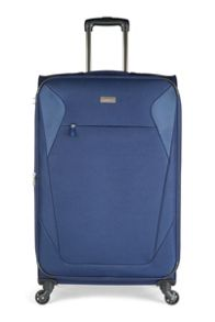 Antler Elba navy 4 wheel soft large suitcase
