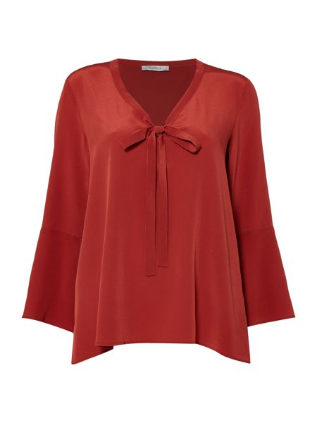 Marella Giugno silk blouse with tie