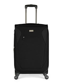Elba black 4 wheel soft medium suitcase