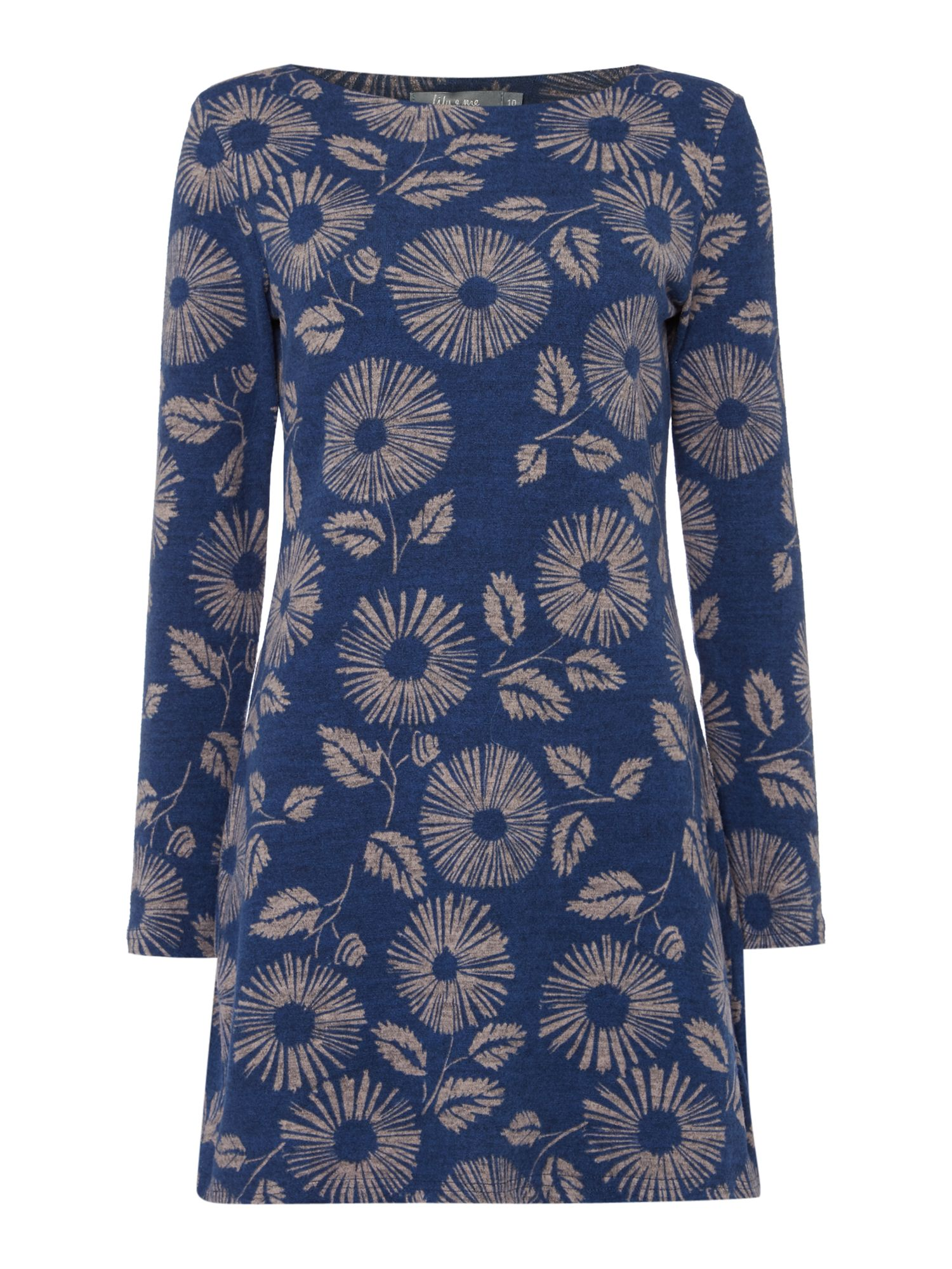 LILY & ME LILY & ME Angela Daisy Print Tunic Dress, Blue