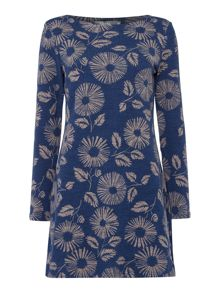 LILY & ME Angela Daisy Print Tunic Dress