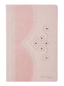 Ted Baker Brogue pink medium notebook