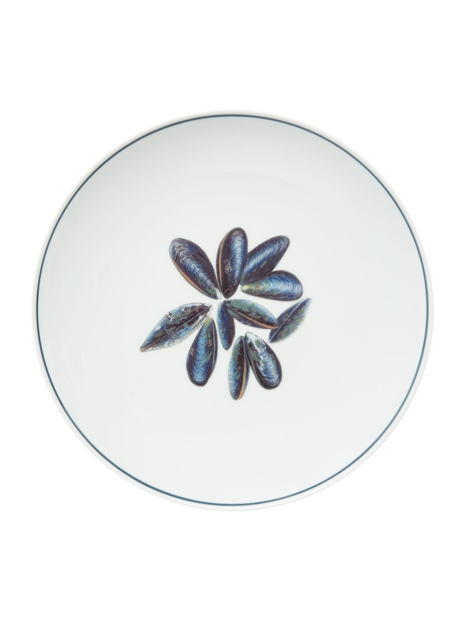 Image of Jersey Pottery Seaflower Mussel 28cm Dinner Plate