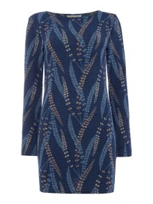 LILY & ME Anglea Feather Print Tunic Dress