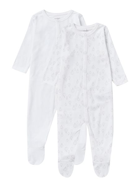 name it Newborn 2 Pack Air Balloon Print Nightsuit