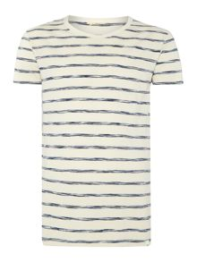 Lee Regular fit space dye stripe t shirt