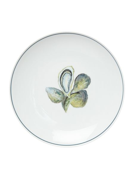 Jersey Pottery Seaflower Oyster 28cm Dinner Plate