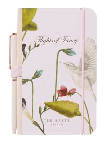 Ted Baker Oriental pink notebook & pen