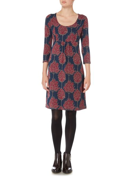 LILY & ME Printed Scoop Neck Dress
