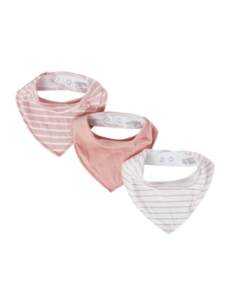 name it Newborn 3 pack Scarf Bib Stripe