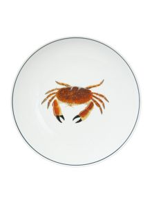 Jersey Pottery Seaflower Crab 28cm Dinner Plate