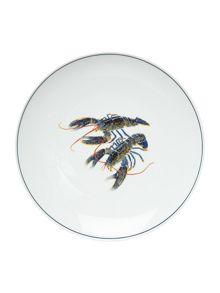 Jersey Pottery Seaflower Blue Lobster 28cm Dinner Plate