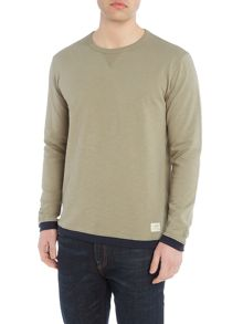 Lee Contrast trim crew neck sweatshirt