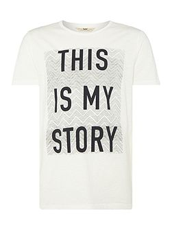 Regular fit this is my story printed t
