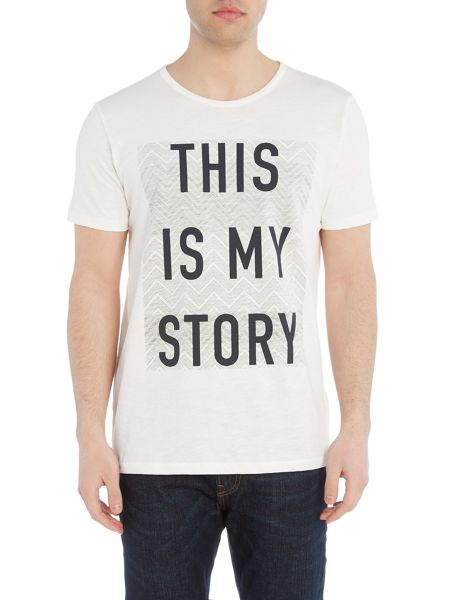 Lee Regular fit this is my story printed t shirt
